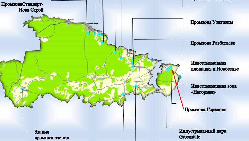 карта промзон Санкт-Петербурга